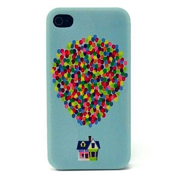 Gekleurde ballonnen hardcase hoesje voor iPhone 4 / 4S