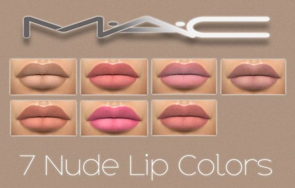 MAC cosimetics: 7 Nude Lipsticks • Sims 4 Downloads