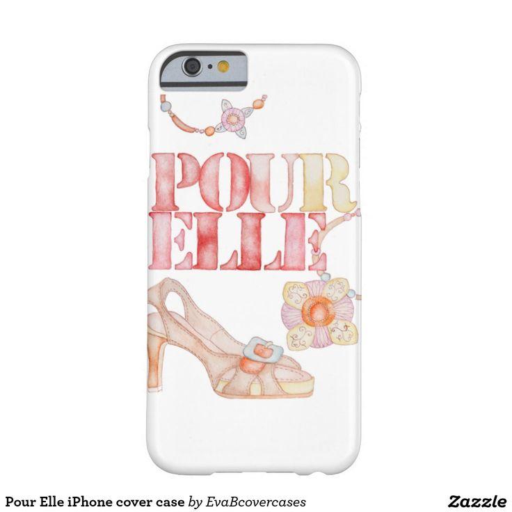 Pour Elle iPhone cover case