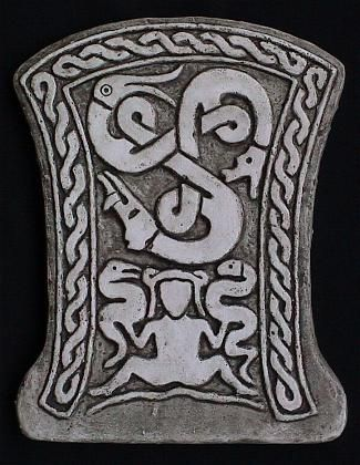 4th century Viking stone carving from Sweden shows the Goddess in her rule of the animals