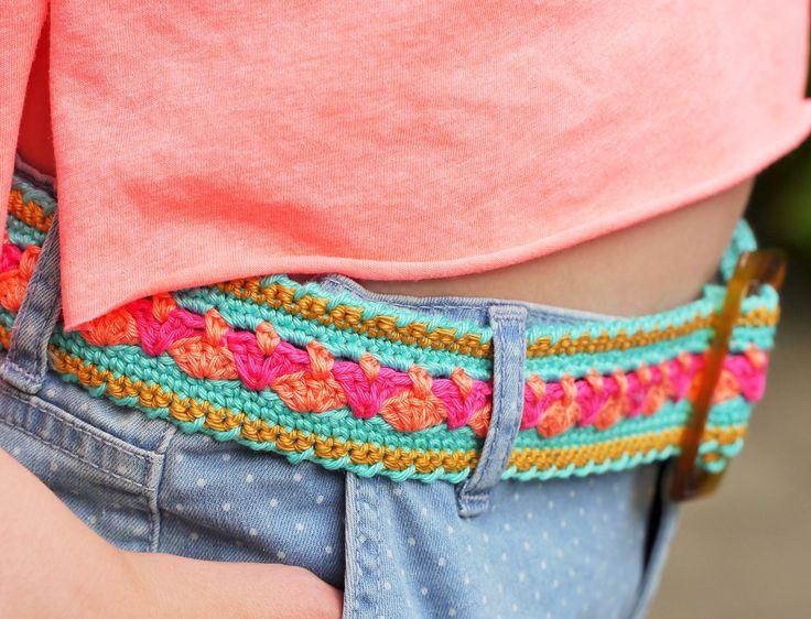 Crocheted belt - made by www.bonthuishouden.nl