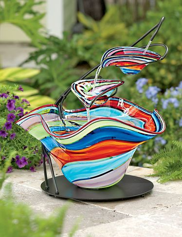 Hand blown Glass Fountain