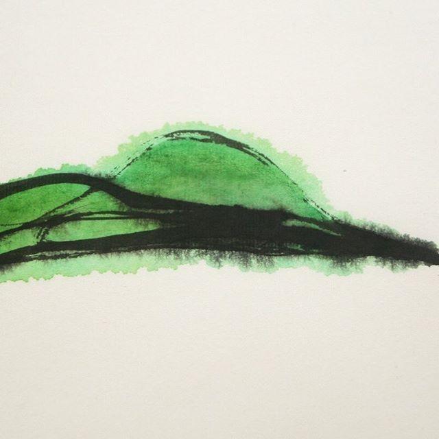 1107-35 #detail 2011 33.5 x 24.5 cm Sumi ink, water color on handmade paper. . main accout: @ko_ushijima . #japaneseart #artist #artwork #asianart #contemporarydrawing #modernart #contemporaryart #ratedmodernart #simple #visualart #fineart #void #stillness #mnmlko_ushijima_drawings