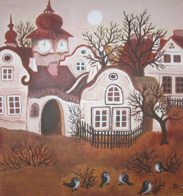 vesnička podle nivní malířky....