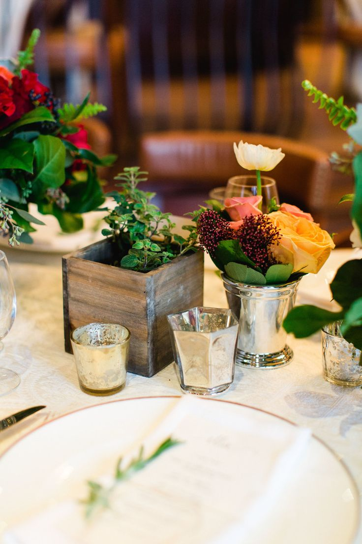 Tuscan in Tremblant — Full Bloom - herbs - centrepiece - garden roses