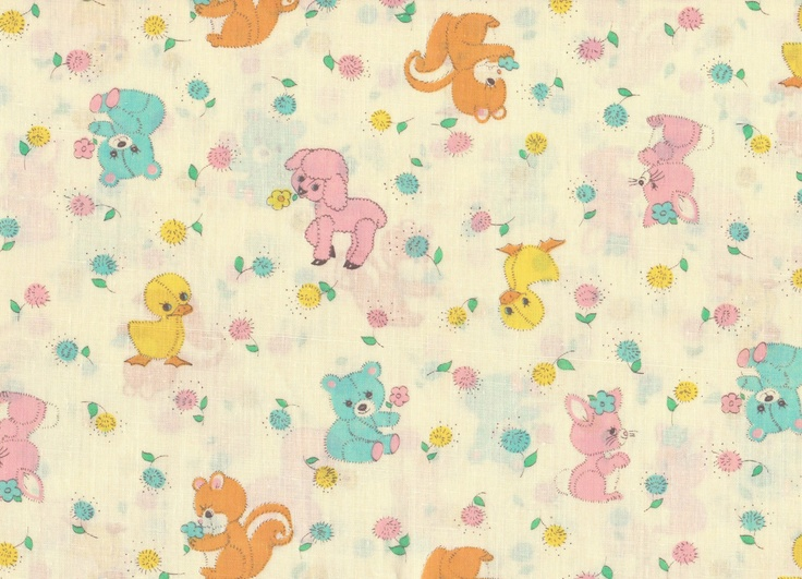 Cute Little Animal Fabric 1/2 Yard. $2.50, via Etsy.