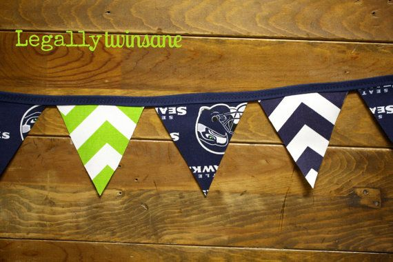 Bunting banner Seattle Seahawks football party by LegallyTwinsane, $13.00