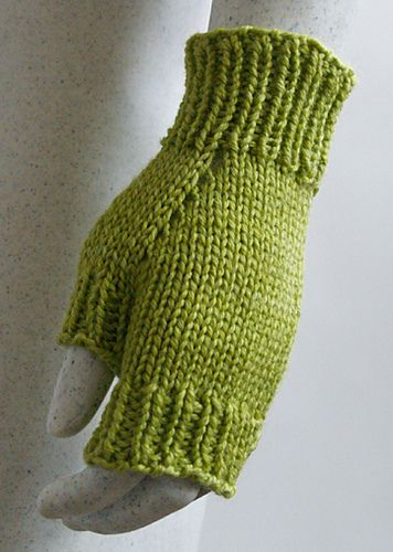 My first knitting project that wasn't a rectangle or a hat :-) Really easy pattern to follow.