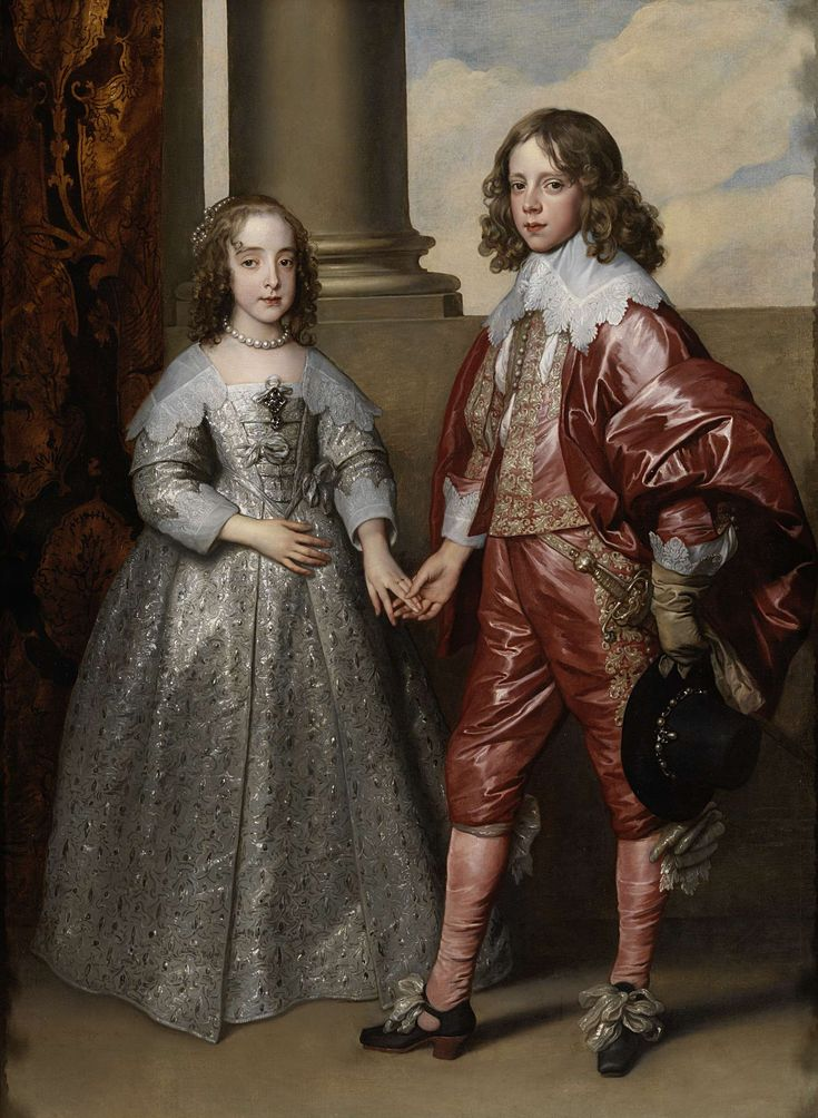William II, prince of Oranje (1626-1650), and his wife princes Maria Stuart (1631-1660), daughter of Charles I of Engeland, Anthony van Dyck, 1641. Rijksmuseum, Amsterdam.