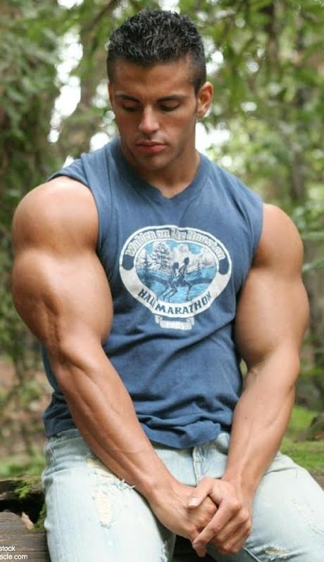 Great model for a bodybuilding t-shirt! For the latest Workouts, nutrition advice and training tips, visit swolhq.com!