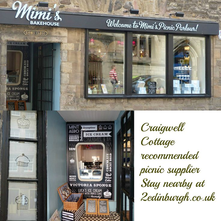 A picnic from Mimi's Picnic Parlour, Canongate, Edinburgh.  Take it to Holyrood Park or Calton Hill for great views and a tasty meal.  A quick walk from Craigwell Cottage - http://www.2edinburgh.co.uk