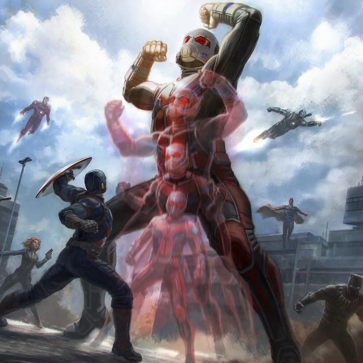 Captain America: Civil War Ant-Man / Giant-Man concept art by Andy Park