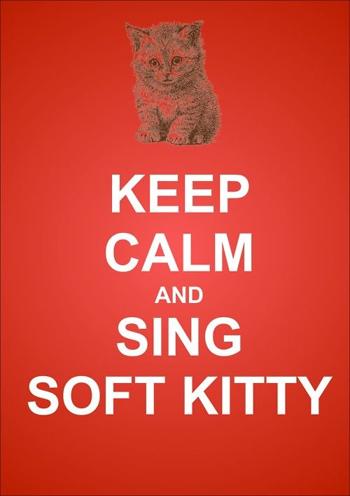 the big bang theory: Happy Kitty, Warm Kitty, Soft Kitty, Ball, Sleepy Kitty, Big Bang Theory, Big Bangs Theory, Singing Soft, Keep Calm