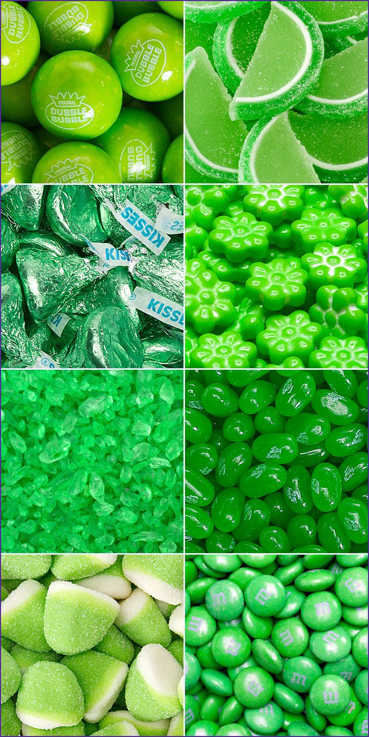 Green M&M's, green Jelly Belly jelly beans, and green Hershey's Kisses are great for decking out the St. Patrick's Day dessert table. Shop hundreds of GREEN candy products at http://www.candywarehouse.com/colors/green-candy/