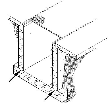 1. A recess or groove in one lift or placement of concrete that is filled with concrete of the next lift, giving shear strength to the joint. Also called a key.