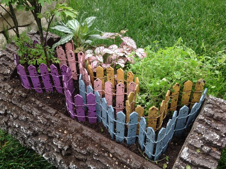 Colorful Picket Fence: Fairy Garden