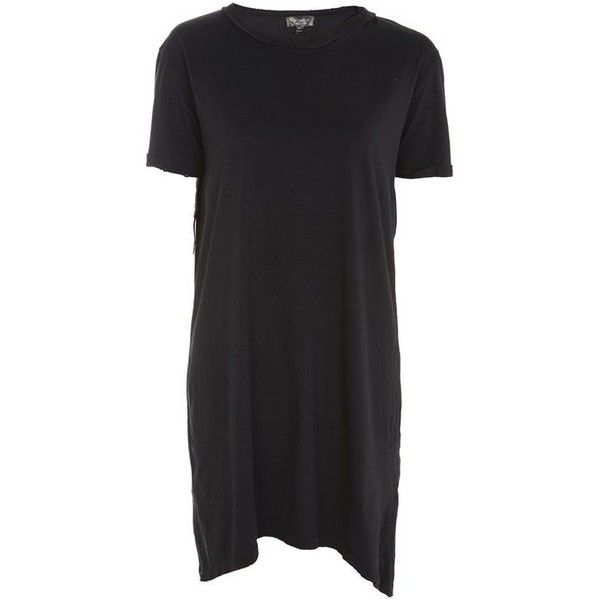 Topshop Washed Choker T-Shirt Dress (30 CAD) ❤ liked on Polyvore featuring dresses, cotton dresses, tee dress, cotton t shirt dress, cotton tee shirt dress and t-shirt dresses