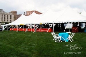 If your corporate event is outside - use a tent to shade the guests from weather elements #corporate #events