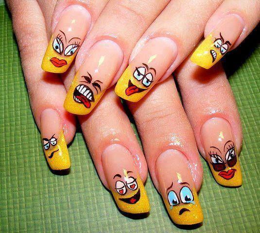 haha funny nails #nailart