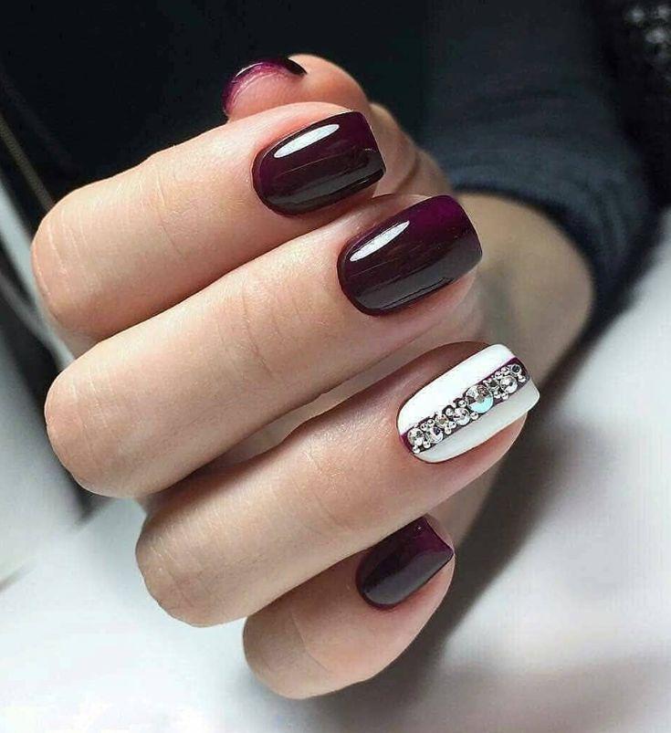 Burgundy Short Square Nails Gel Short Nails Design Short Nails Acrylic Acrylic Nails De Short Acrylic Nails Designs Short Nail Designs Winter Nails Acrylic