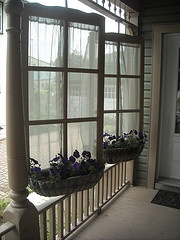 Swivel window baskets  These were made from our old screen door's, they're the winter stormdoor inserts. Neat