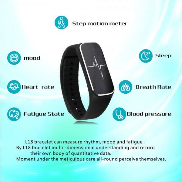 L18 IP54 Waterproof Heart Rate Fitness Tracker (Black Friday Weekend D – ChaseTech