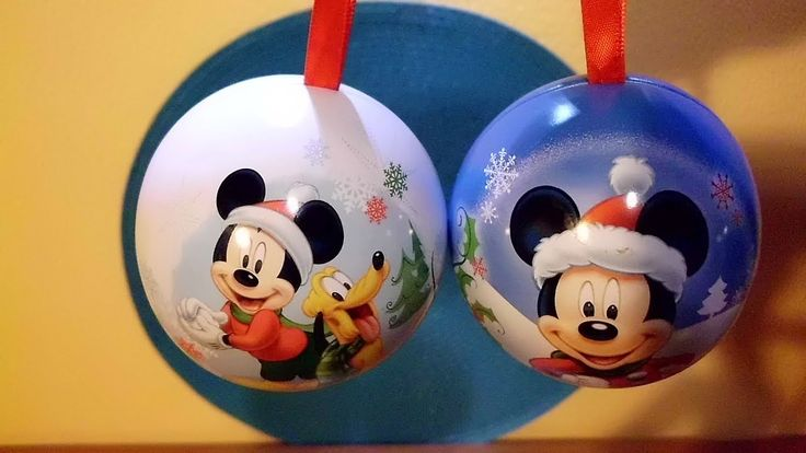 Mickey Mouse Christmas Tree Decorations Surprise Baubles Balls ...