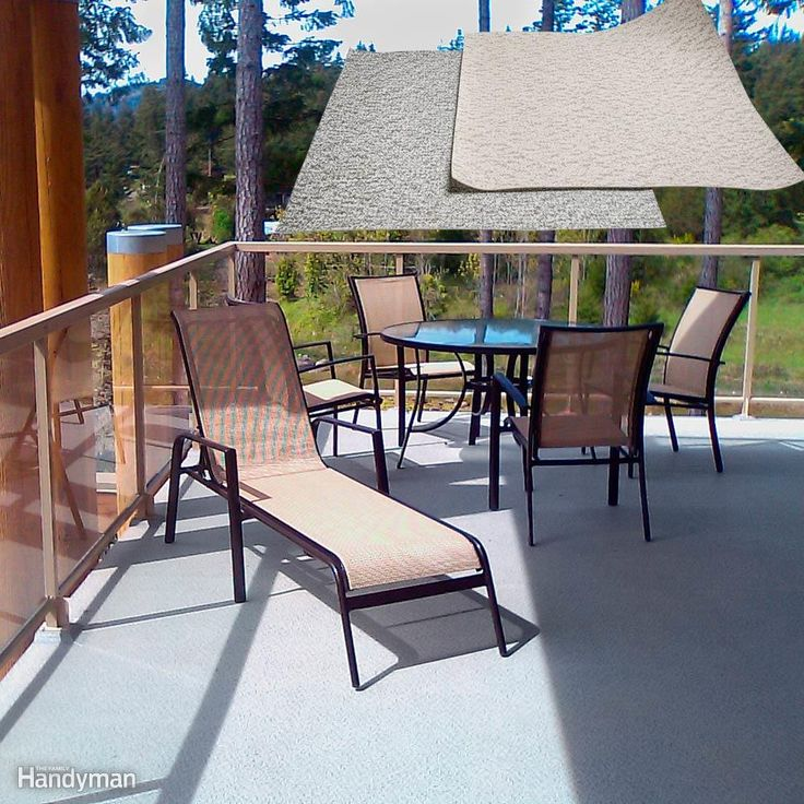 Solution 5:  Exterior Floor Covering - DeckRite is a sheet material that comes on a roll, much like sheet vinyl flooring. It basically turns your old deck into an outdoor floor with no gaps in it and creates a watertight roof for the area beneath your deck. As long as your old deck boards are at least 5/4 thick and structurally sound, you can screw 1/2-in. pressure-treated plywood right over it and stick the flooring membrane on top. If the deck is really big, it might require multiple…