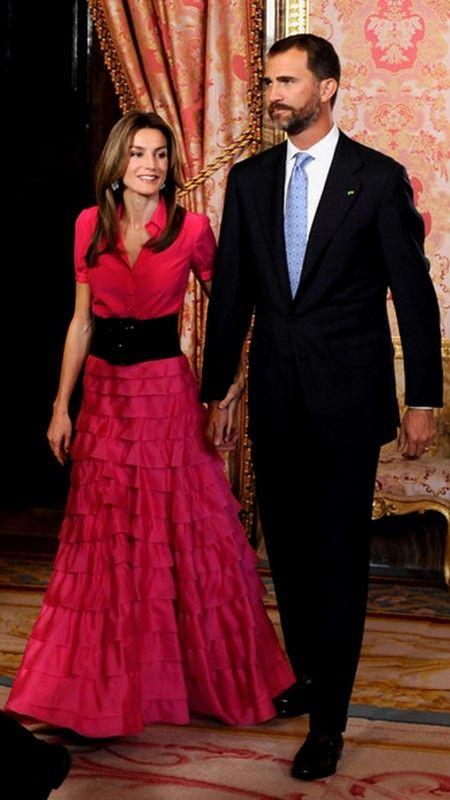 Los Príncipes de Asturias, Letizia y Felipe