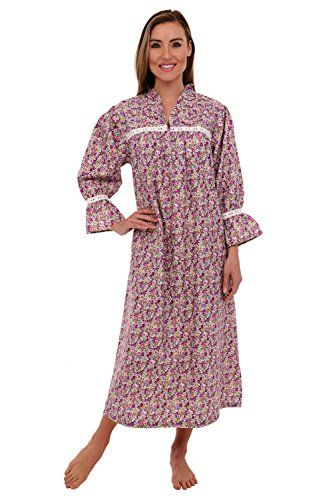 Del Rossa Women's Romeo and Juliet Cotton Nightgown, Victorian Bell Sleeve Sleepwear - http://www.darrenblogs.com/2016/11/del-rossa-womens-romeo-and-juliet-cotton-nightgown-victorian-bell-sleeve-sleepwear/