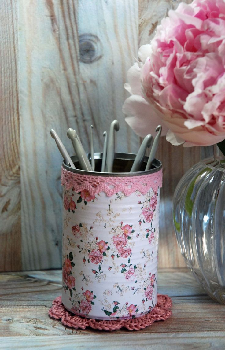Vintage Cottage Roses Shabby Chic Style Tin Desk by AuntieShrews
