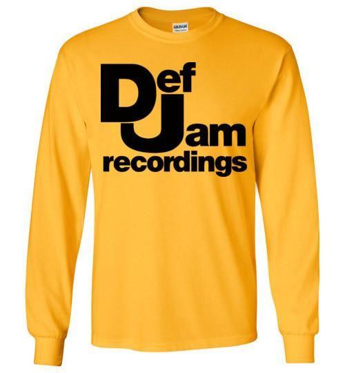 Def Jam Recordings Classic Hip Hop Run Dmc Beastie Boys Public Enemy Kanye West Rick Ross ,v2, Gildan Long Sleeve T-Shirt