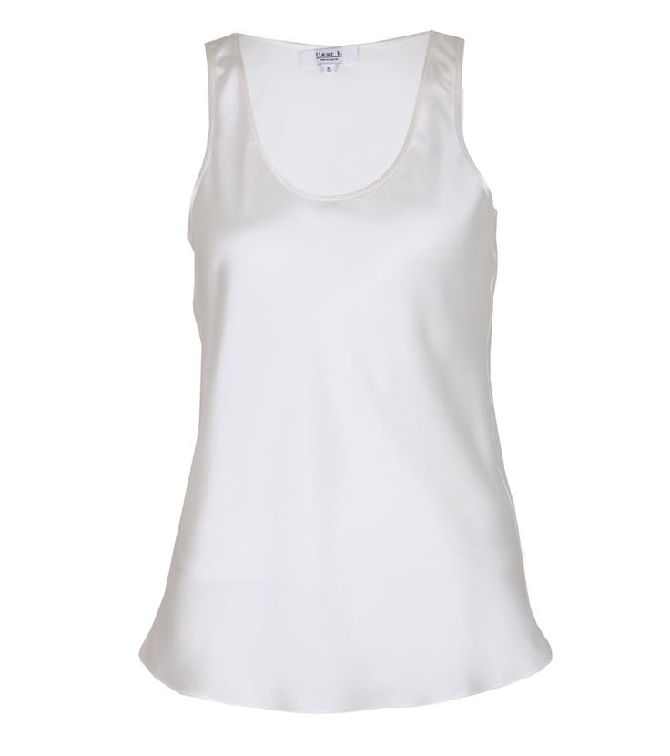 fleur b. The Silk Vest White. Available online at www.fleurb.co.uk