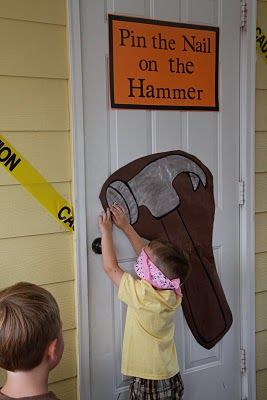 Game idea. older games could include hammering in a nail the fastest, constructing the best birdhouse, toilet assembly , etc.