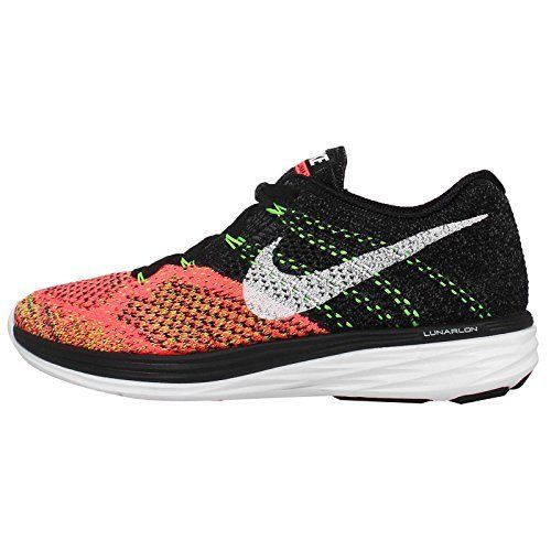 Nike Womens Wmns Flyknit Lunar3 BLACKWHITEHOT LAVAVOLT 10 M US * You can  get additional details