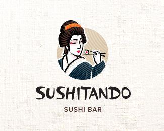 Sushitando - Sushi Bar - by Antonio Cappucci #sushi #branding #design #logo #japan