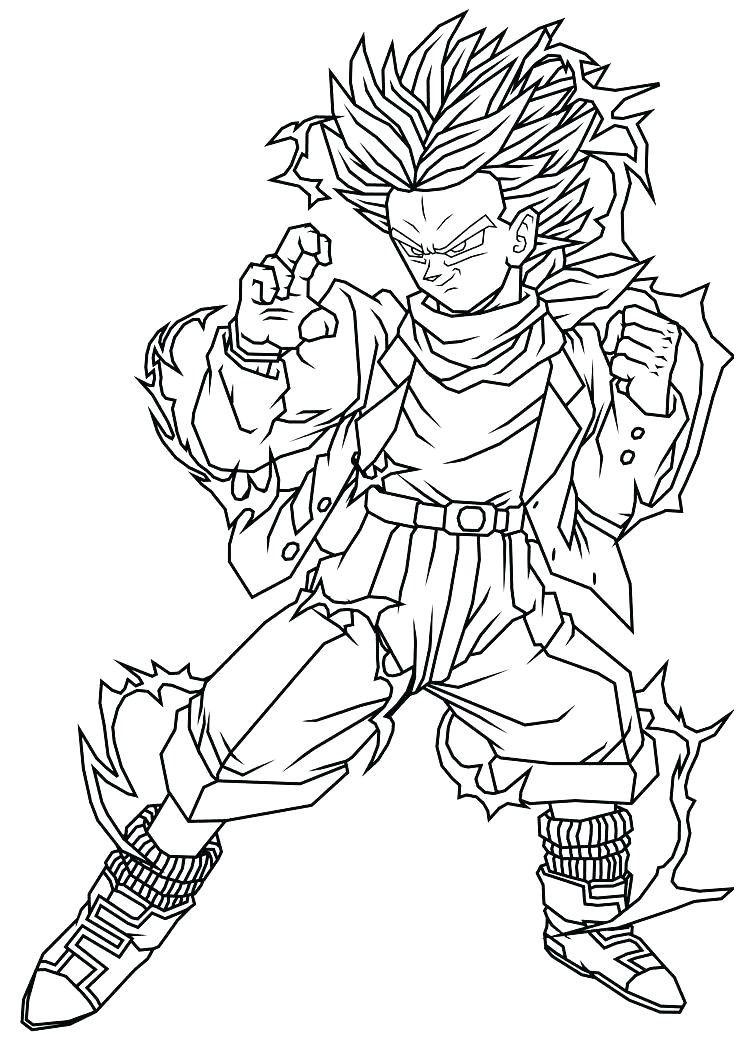 Coloriage Dragon Ball Z Broly