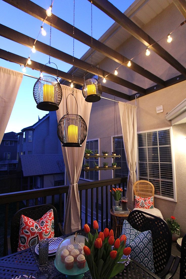 Lighting for small balconies - How To Pinterest Perfect Outdoor Lighting For Your Next Summer Party