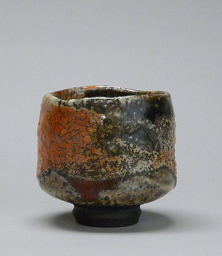 Tom Coleman, tea bowl, shino glaze
