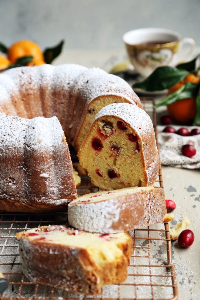 Cranberry Orange Sour Cream Bundt Cake Recipe Sour Cream Cake Savoury Cake Sour Cream Coffee Cake