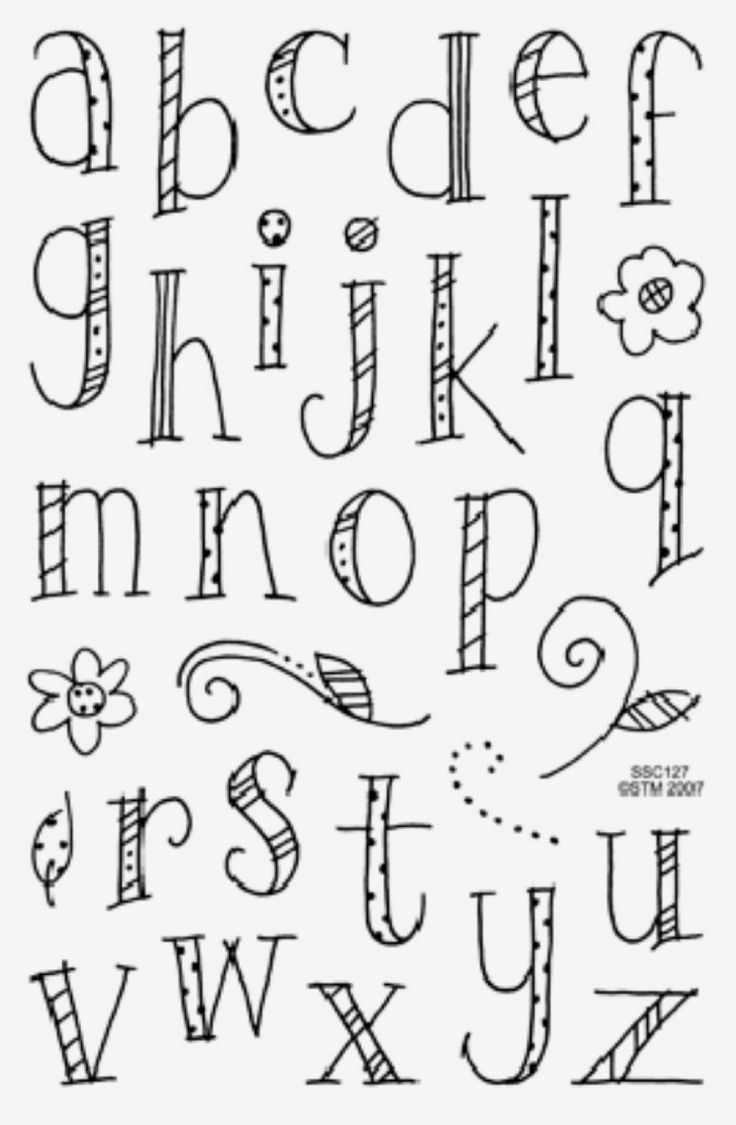 Alphabet doodles.