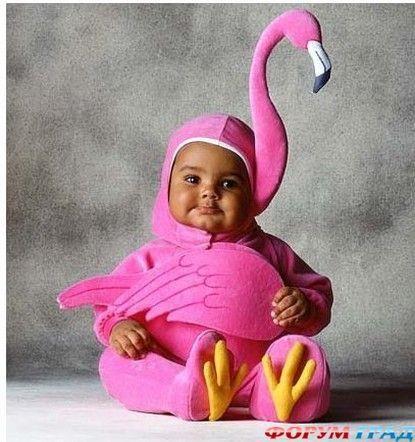 Костюм розовый фламинго