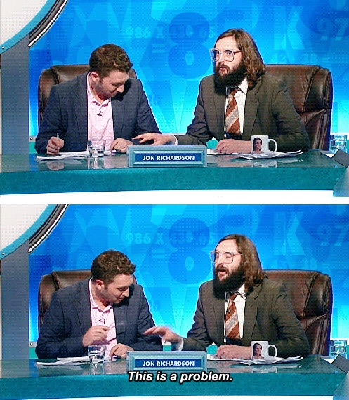 Jon Richardson & Joe Wilkinson //  8 out of 10 cats does Countdown rematch - I love these two men.