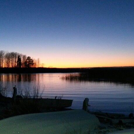 Sunset over lake Lappajärvi.