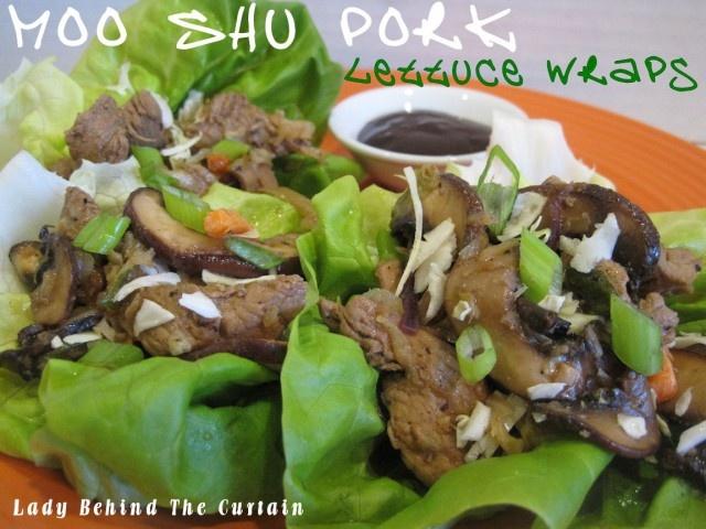 Moo Shu Pork Lettuce WrapsMoo Shu, Lettuce Wraps, Shu Pork, Diy Crafts, Pork Lettuce, Asian Food, Asian Dishes, Asian Flavored, Wraps Recipe