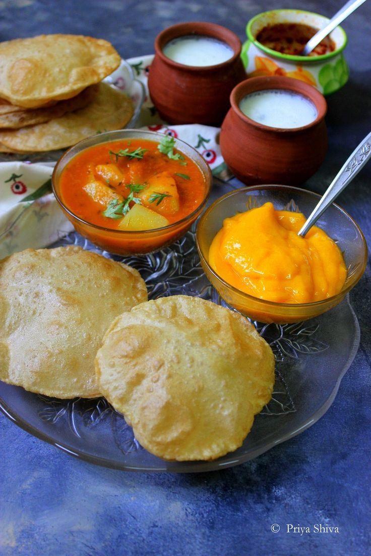 How to Make Soft Poori / Indian Puri recipe