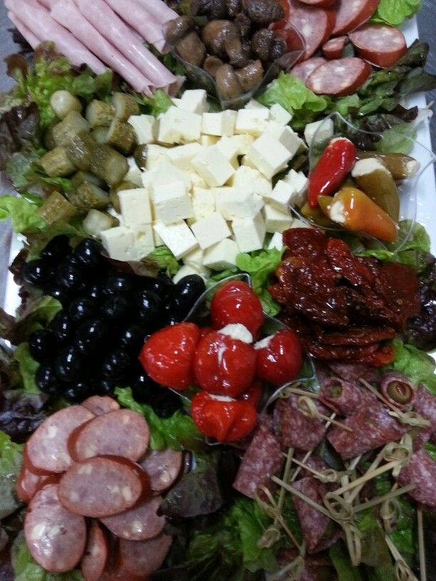 A fresh antipasto platter for an afternoon wedding reception we catered for