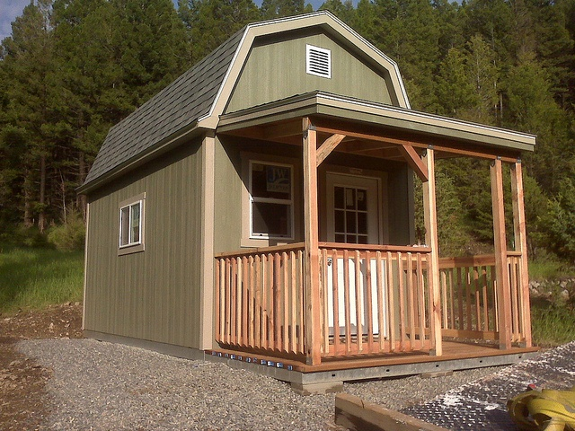 1000 images about tuff sheds on pinterest shed cabin for Shed with porch and loft