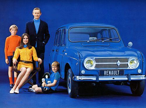 Renault 4 -1969 famille française