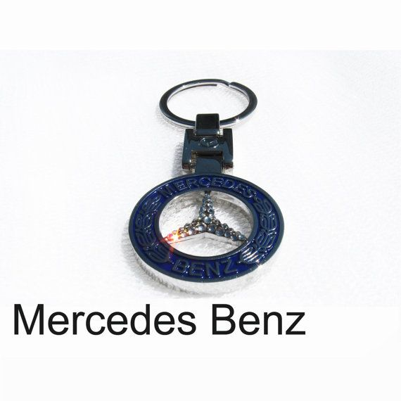 Has video cadillac emblem cadillac keychain with swarovski for Mercedes benz chain